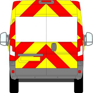 Fiat Ducato H2 Chevrons High Roof 2006 - Present (Three Quarter/Prismatic)