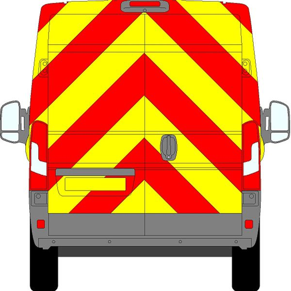 Fiat Ducato H2 Chevrons High Roof 2006 - Present (Full/Prismatic)