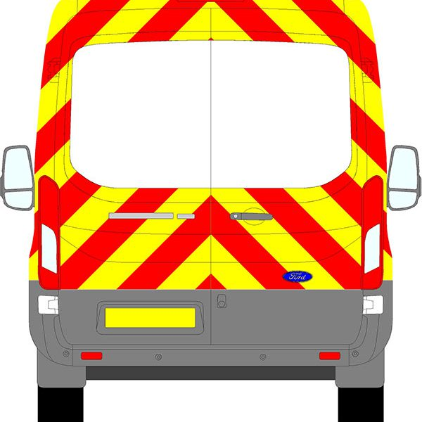 Ford Transit H2 Chevrons Medium Roof 2014 - Present (Three Quarter/Engineering)