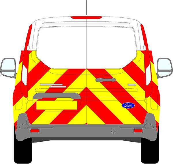 Ford Transit Connect Chevrons 2013 - Present (Half/Prismatic)