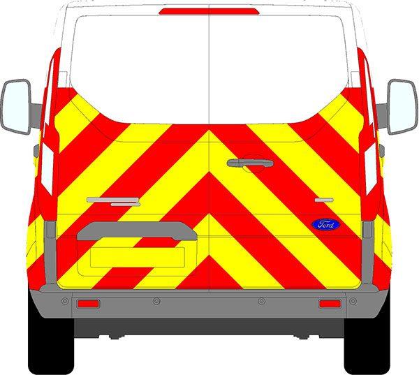 Ford Transit Custom H1 Chevrons Low Roof 2012 - Present (Half/Prismatic)