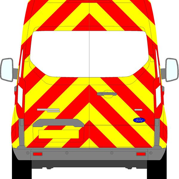 Ford Transit Custom H2 Chevrons Medium Roof 2012 - Present (Three Quarter/Prismatic)