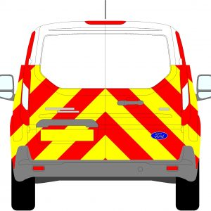 Ford Transit Connect Chevrons 2013 - Present (Half/Engineering)