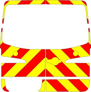 Mercedes Sprinter H1 Chevrons Standard Roof 2009 - 2018 (Three Quarter/Prismatic)