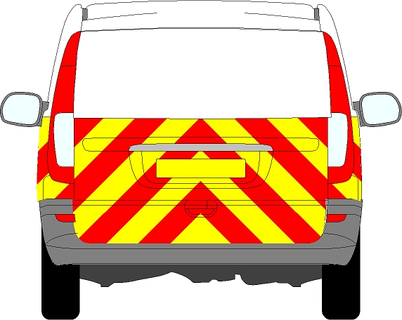 Mercedes Vito Tailgate Chevrons 2003 - 2014 (Half/Engineering)