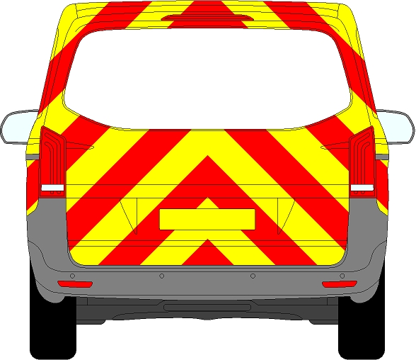 Mercedes Vito Tailgate Chevrons 2015 - Present (Three Quarter/Prismatic)