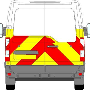 Nissan NV400 H1 Chevrons Low Roof 2012 - Present (Half/Prismatic)