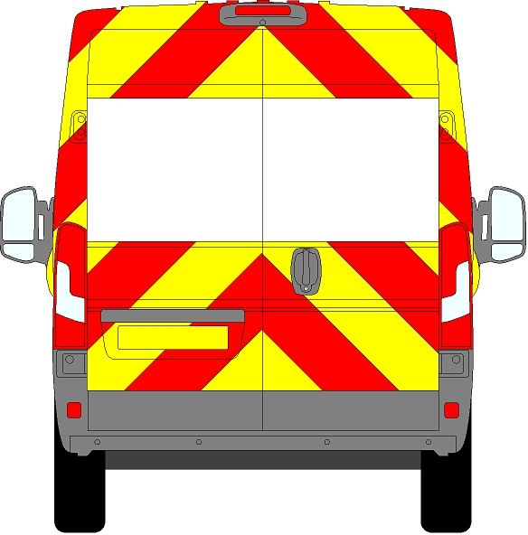Peugeot Boxer H2 Chevrons Medium Roof 2006 - Present (Three Quarter/Prismatic)