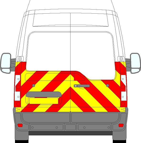 Renault Master H3 Chevrons High Roof 2010 - Present (Half/Prismatic)