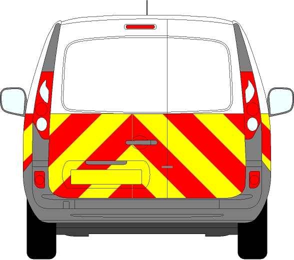 Renault Kangoo Chevrons 2009 - Present (Half/Prismatic)