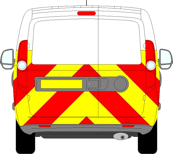 Vauxhall Combo Chevrons 2012 - 2018 (Half/Engineering)