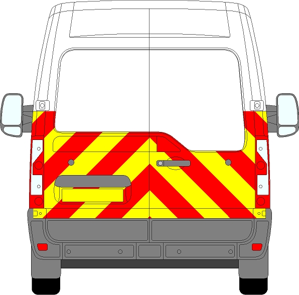Vauxhall Movano H2 Chevrons Medium Roof 2010 - Present (Half/Prismatic)