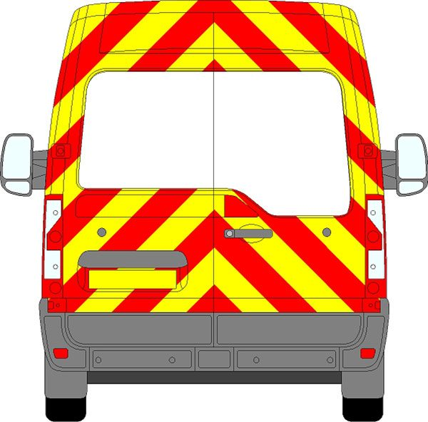 Vauxhall Movano H2 Chevrons Medium Roof 2010 - Present (Three Quarter/Engineering)