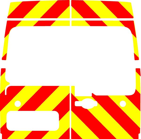 Vauxhall Movano H2 Chevrons Medium Roof 2010 - Present (Three Quarter/Prismatic)