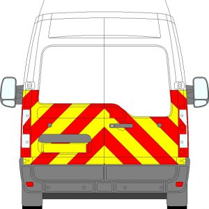 Vauxhall Movano H3 Chevrons High Roof 2010 - Present (Half/Prismatic)