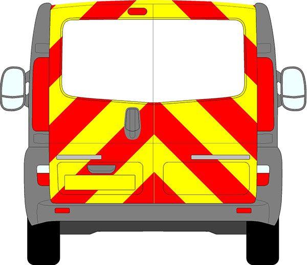 Vauxhall Vivaro Chevrons 2001 - 2014 (Three Quarter/Engineering)