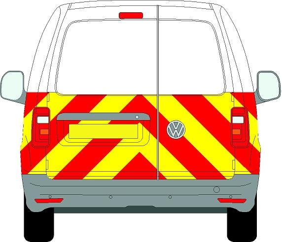 Volkswagen Caddy Chevrons 2004 - Present (Half/Prismatic)