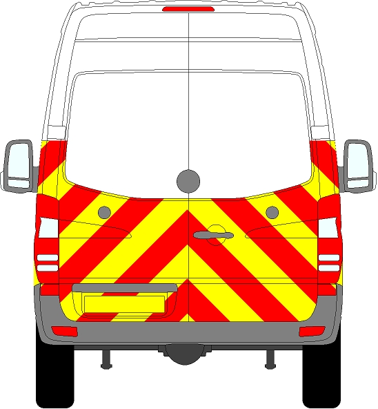 Volkswagen Crafter H2 Chevrons High Roof 2006 - 2017 (Half/Prismatic)