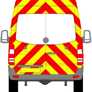 Volkswagen Crafter H2 Chevrons High Roof 2006 - 2017 (Three Quarter/Engineering)