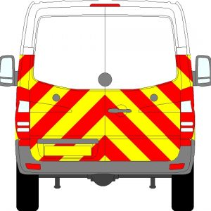 Volkswagen Crafter H1 Chevrons Normal Roof 2006-2017  (Half/Engineering)
