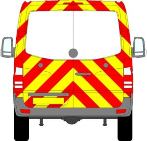 Volkswagen Crafter H1 Chevrons Normal Roof 2006 - 2017 (Three Quarter/Prismatic)
