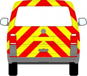 Volkswagen Transporter Tailgate Chevrons 2015 - Present (Three Quarter/Prismatic)
