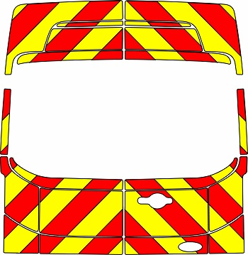 Ford Transit H3 Chevrons High Roof 2014 - Present (Three Quarter/Engineering)