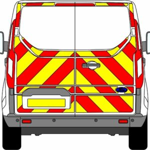 Ford Transit Custom H1 Chevrons Low Roof 2012 - Present (Three Quarter/Prismatic)