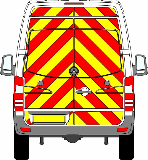 Mercedes Sprinter H2 Chevrons High Roof 2009 - 2018 (Full/Engineering)