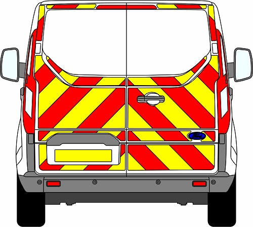 Ford Transit Custom H1 Chevrons Low Roof 2012 - Present (Three Quarter/Engineering)