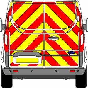 Ford Transit Custom H1 Chevrons Low Roof 2012 - Present (Full/Prismatic)