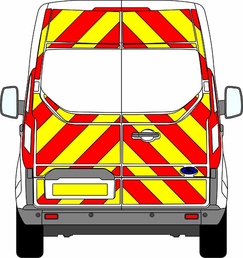 Ford Transit Custom H2 Chevrons Medium Roof 2012 - Present (Three Quarter/Engineering)