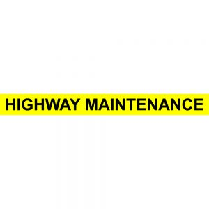 Motorway Maintenance Sticker 175cm x 18cm