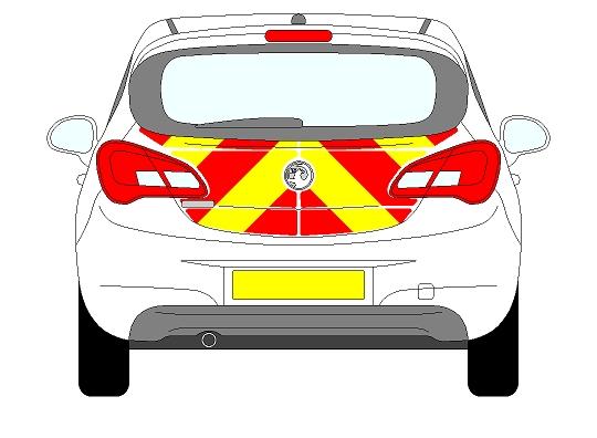 Vauxhall Corsavan 3 Door Chevrons 2015 - Present (Prismatic)