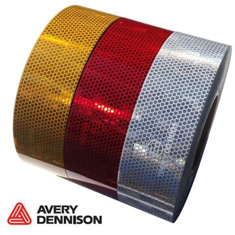 Yellow Self Adhesive Prismatic Side Tape 5cm wide price per metre length