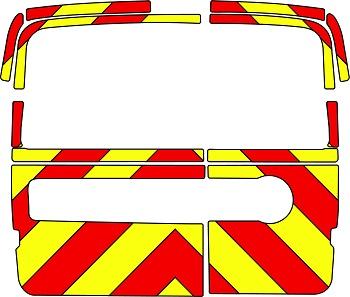 Fiat Doblo Chevrons Low Roof 2010 - Present (Three Quarter/Engineering)