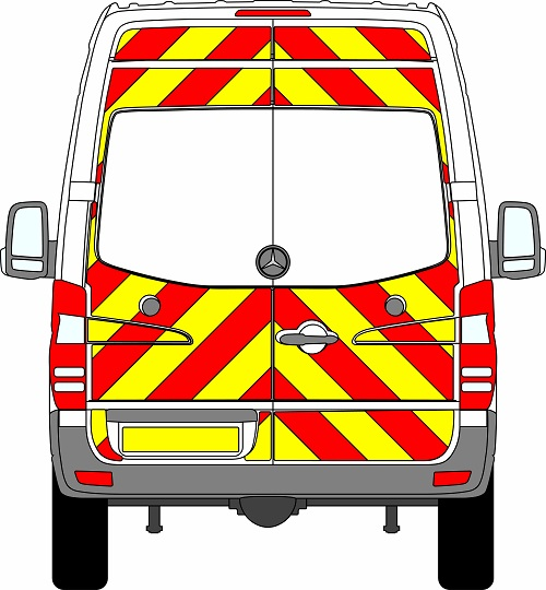 Mercedes Sprinter H2 Chevrons High Roof 2009 - 2018 (Three Quarter/Engineering)