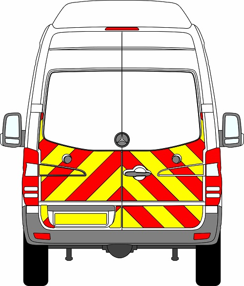 Mercedes Sprinter H3 Chevrons Super High Roof 2009 - 2018 (Half/Engineering)