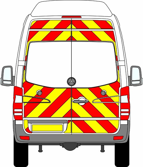 Mercedes Sprinter H3 Chevrons Super High Roof 2009 - 2018 (Three Quarter/Engineering)