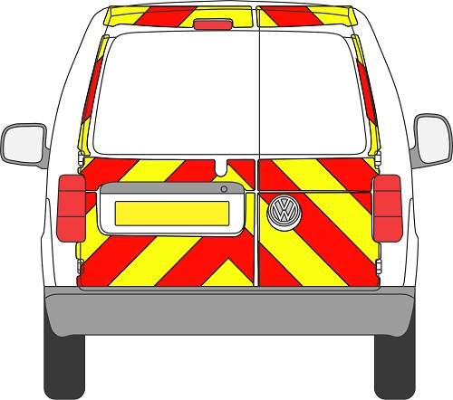 Volkswagen Caddy Chevrons 2004 - 2020 (Three Quarter/Prismatic)