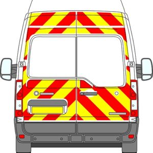 Renault Master H3 Chevrons High Roof 2010 - Present (Three Quarter/Engineering)