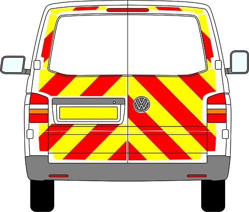 Volkswagen Transporter Chevrons 2003 - Present (Three Quarter/Prismatic)