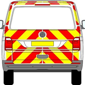 Volkswagen Transporter Tailgate Chevrons 2015 - Present (Three Quarter/Engineering)