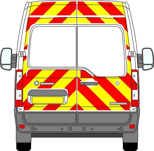 Vauxhall Movano H2 Chevrons Medium Roof 2010 - Present (Three Quarter/Engineering)