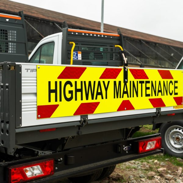 Highway Maintenance Chevrons Self Adhesive Vinyl Prismatic Grade 2000mm x 350mm