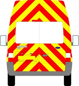 Ford Transit H3 Chevrons Extra High Roof 2006 - 2014 (Three Quarter/Prismatic)