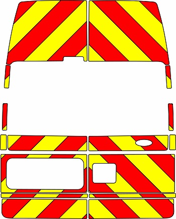 Ford Transit Chevrons High Roof 2006 - 2014 (Three Quarter/Prismatic)