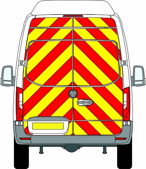 NEW Mercedes Sprinter H3 Chevrons Super High Roof 2018 - Present (Full/Prismatic) - Rear Wheel Drive