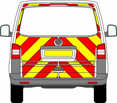 Volkswagen Transporter Tailgate Chevrons 2003 – 2015 (Three Quarter/Engineering)