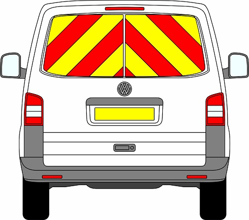 Volkswagen Transporter Tailgate Chevrons 2003 – 2015 (Window Panels/Engineering)